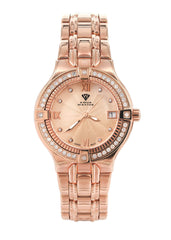 Womens Rose Gold Tone Diamond Watch | Appx 0.65 Carats WOMENS WATCH FROST NYC