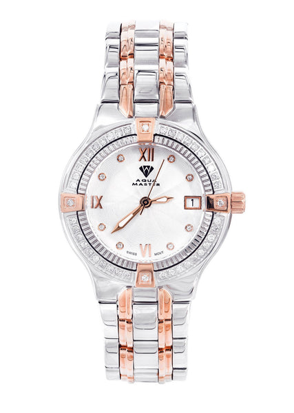 Womens Rose Gold Tone Diamond Watch | Appx 0.64 Carats