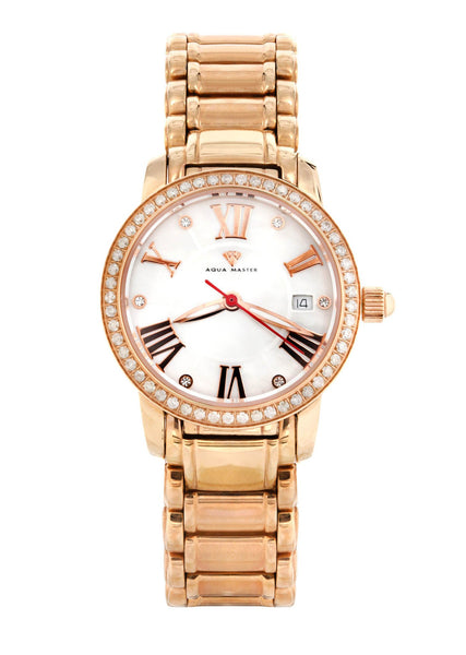 Womens Rose Gold Tone Diamond Watch | Appx 0.53 Carats