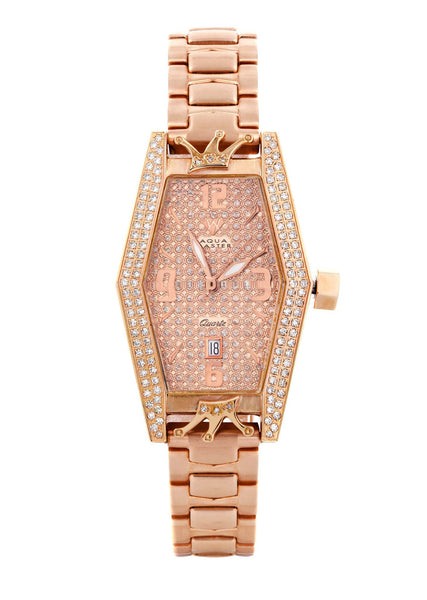 Womens Rose Gold Tone Diamond Watch | Appx  1.5 Carats