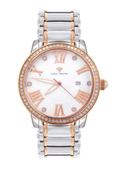 Mens Rose Gold Tone Diamond Watch | Appx. 1.75 Carats