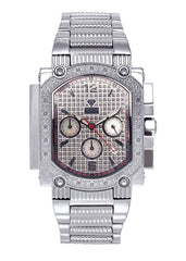 Mens White Gold Tone Diamond Watch | Appx. 0.16 Carats MENS GOLD WATCH FROST NYC