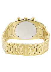 Mens Yellow Gold Tone Diamond Watch | Appx. 0.255 Carats MENS GOLD WATCH FROST NYC
