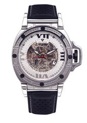 Mens White Gold Tone Diamond Watch | Appx. 0.27 Carats
