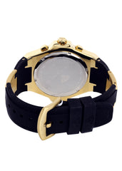 Mens Yellow Gold Tone Diamond Watch | Appx. 0.26 5Carats