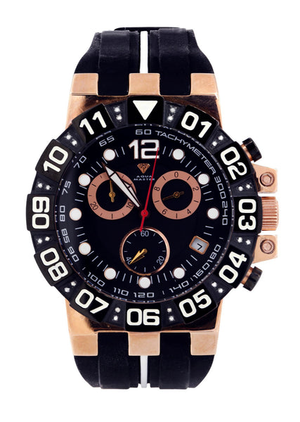 Mens Rose Gold Tone Diamond Watch | Appx. 0.275 Carats
