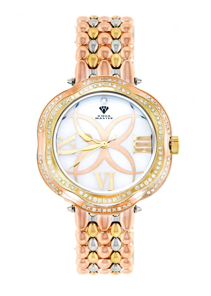Womens Rose Gold Tone Diamond Watch | Appx 0.86 Carats