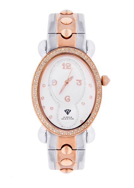 Womens Rose Gold Tone Diamond Watch | Appx 1.01 Carats