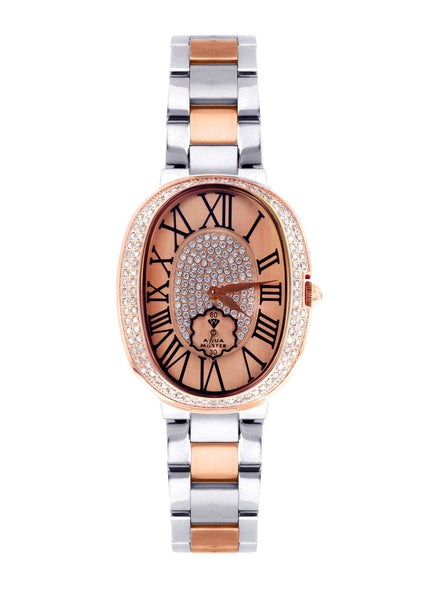 Womens Rose Gold Tone Diamond Watch | Appx 0.87 Carats