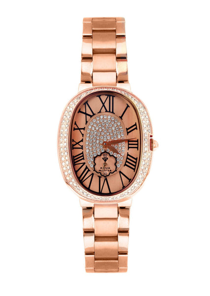 Womens Rose Gold Tone Diamond Watch | Appx 0.7 Carats