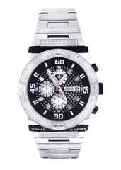 Mens White Gold Tone Diamond Watch | Appx. 0.23 Carats