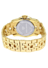 Mens Yellow Gold Tone Diamond Watch | Appx. 1.76 Carats MENS GOLD WATCH FROST NYC
