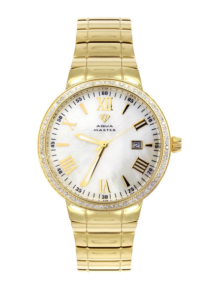 Mens Yellow Gold Tone Diamond Watch | Appx. 1.27 Carats