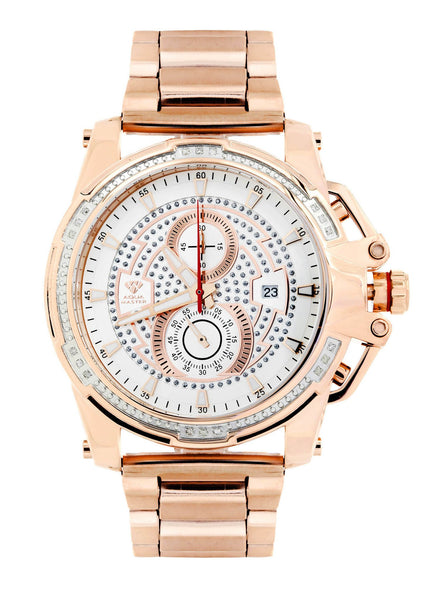 Mens Rose Gold Tone Diamond Watch | Appx. 0.24 Carats
