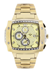 Mens Yellow Gold Tone Diamond Watch | Appx. 0.28 Carats MENS GOLD WATCH FROST NYC