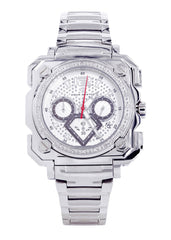 Mens White Gold Tone Diamond Watch | Appx. 0.25 Carats MENS GOLD WATCH FROST NYC