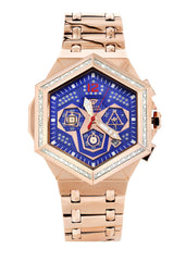 Mens Rose Gold Tone Diamond Watch | Appx. 0.245 Carats MENS GOLD WATCH FROST NYC