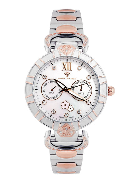 Womens Rose Gold Tone Diamond Watch | Appx 0.14 Carats
