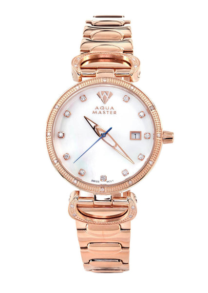 Womens Rose Gold Tone Diamond Watch | Appx 0.3 Carats