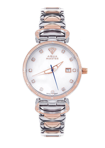Womens Rose Gold Tone Diamond Watch | Appx 0.31 Carats