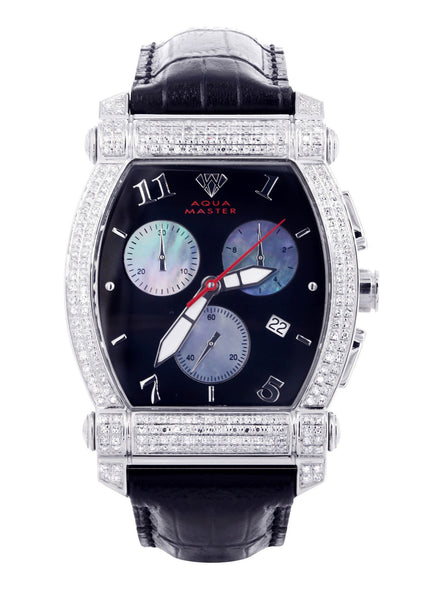 Mens White Gold Tone Diamond Watch | Appx. 2.51 Carats