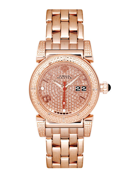 Womens Rose Gold Tone Diamond Watch | Appx 0.6 Carats