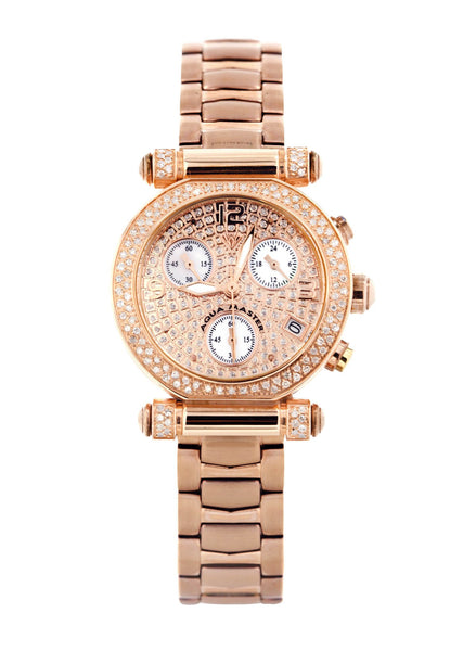 Womens Rose Gold Tone Diamond Watch | Appx 0.85 Carats