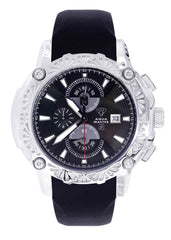 Mens White Gold Tone Diamond Watch | Appx. 0.40 Carats MENS GOLD WATCH FROST NYC