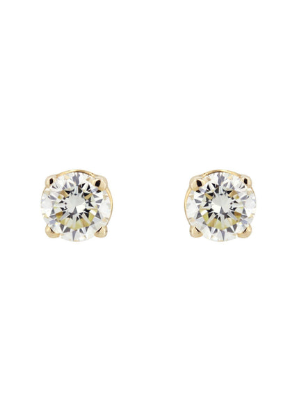 Round Diamond Stud Earrings | 0.3 Carats