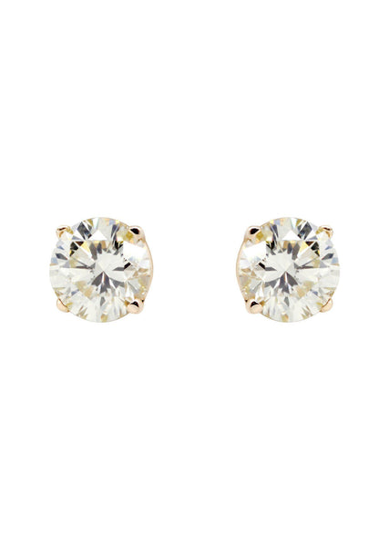 Round Diamond Stud Earrings | 0.5 Carats