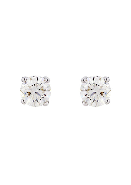 Round Diamond Stud Earrings | 1.85 Carats