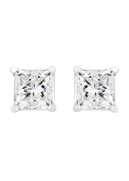 Princess Diamond Stud Earrings | 1.82 Carats