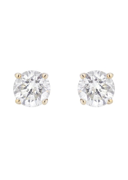 Round Diamond Stud Earrings | 1.15 Carats