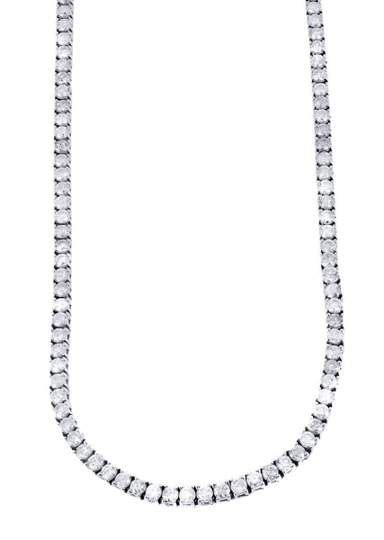 Tennis Necklace | 28.36 Carats | 4 Mm Width | 33 Inch Length