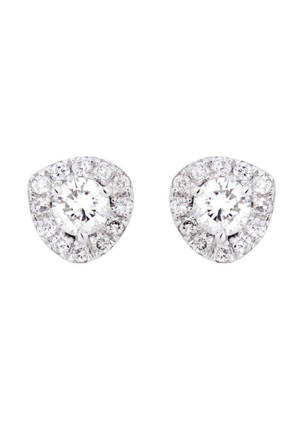 Round Diamond Stud Earrings | 0.49 Carats