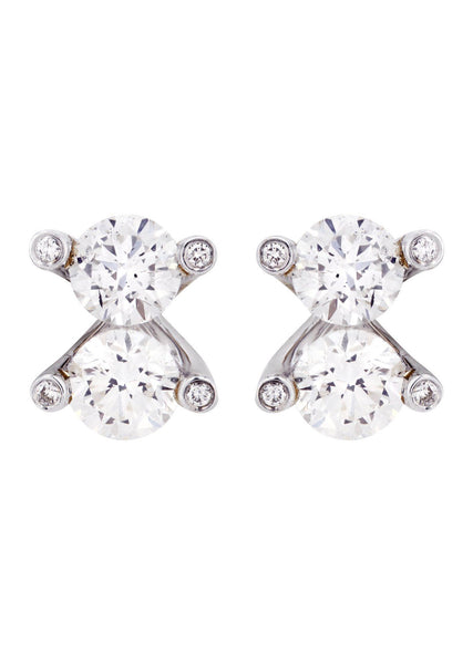 Round Diamond Stud Earrings | 2.36 Carats