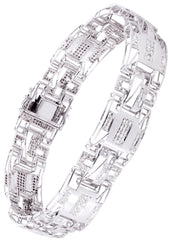 Mens Diamond Bracelet White Gold| 1.85 Carats| 25.78 Grams Men's Diamond Bracelets FROST NYC