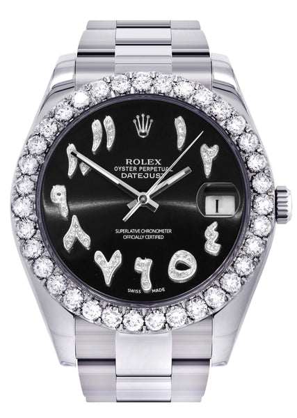Rolex Datejust II Watch | 41 MM | Custom Black Arabic Dial | Oyster Band