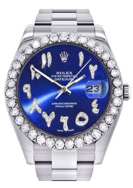 Rolex Datejust II Watch | 41 MM | Custom Blue Arabic Dial | Oyster Band