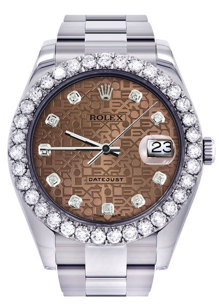 Rolex Datejust II Watch | 41 MM | Custom Jubilee Diamond Dial | Oyster Band