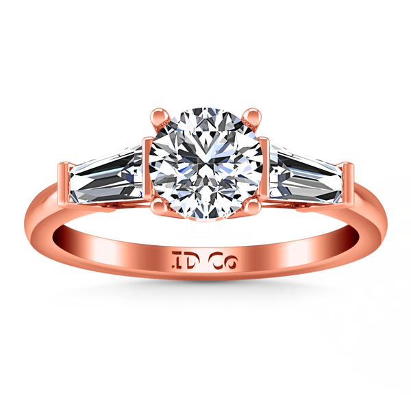 Three Stone Diamond EngagementRing Jenna 14K Rose Gold