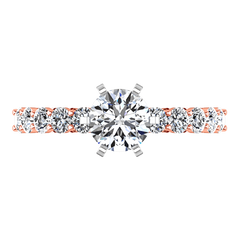 Pave Diamond Engagement Ring Fleur 14K Rose Gold engagement rings imaginediamonds