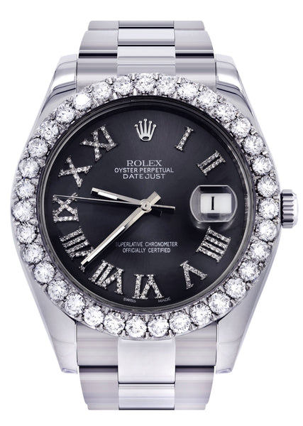Rolex Datejust II Watch | 41 MM | Custom Grey Roman Dial | Oyster Band