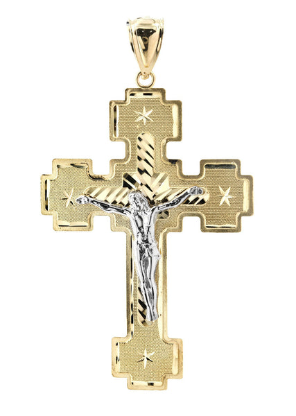 Big Gold Cross   10K Yellow Gold Pendant.  |  7.1 Grams