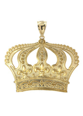 Big Crown 10K Yellow Gold Pendant. | 9.5 Grams MEN'S PENDANTS FROST NYC