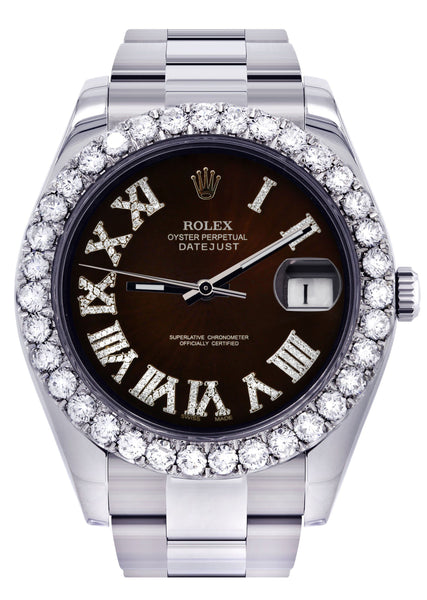Rolex Datejust II Watch | 41 MM | Custom Black Chocolate Dial | Oyster Band