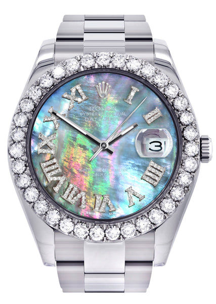 Rolex Datejust II Watch | 41 MM | Custom Abalone Mother Of Pearl Dial | Oyster Band