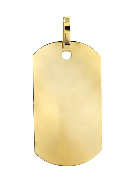 Big Dogtag   10K Yellow Gold Pendant. | 23.6 Grams