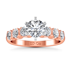 Pave Diamond Engagement Ring Karen 14K Rose Gold engagement rings imaginediamonds