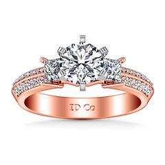 Three Stone Diamond EngagementRing Ivana 14K Rose Gold engagement rings imaginediamonds